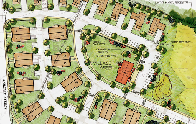 Northfield Commons site plan