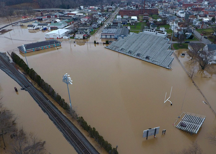 Wiley Stadium flooded
