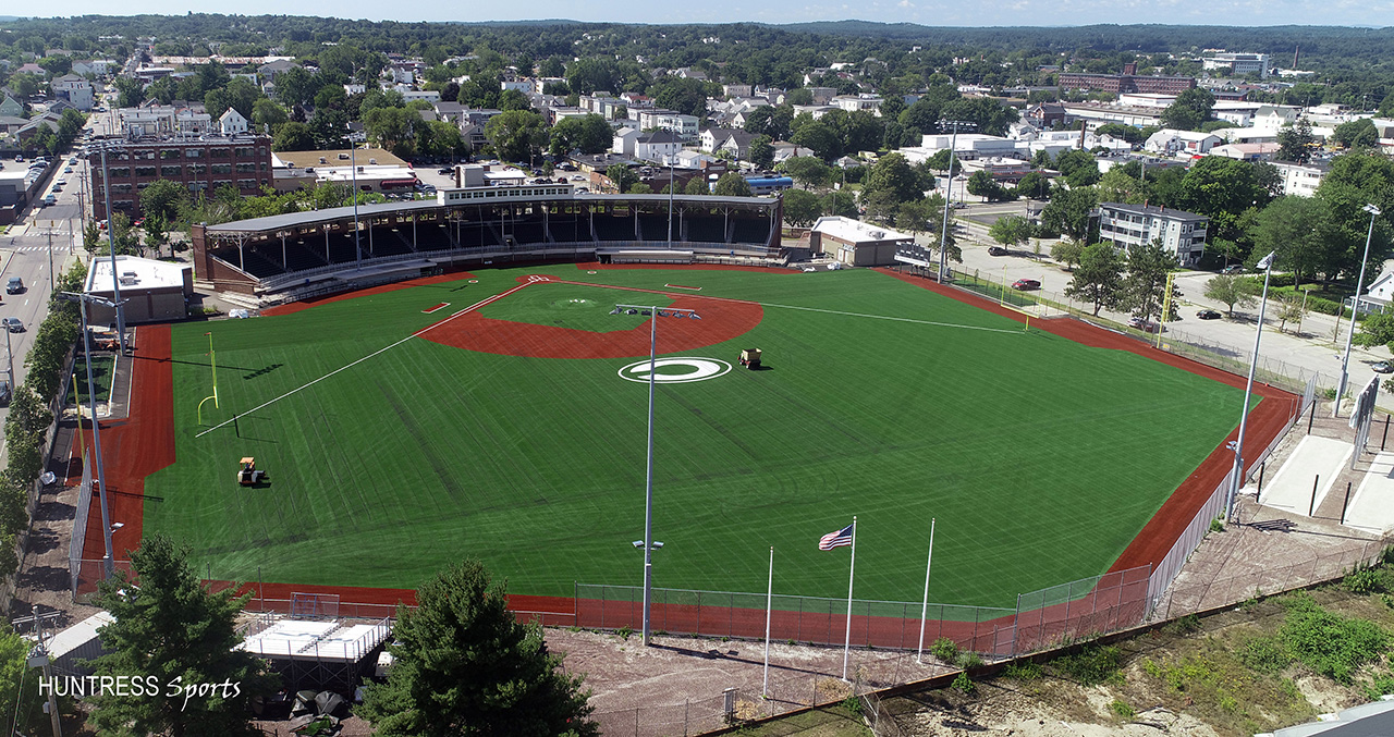 The historic Gill Stadium in Manchester, New Hampshire