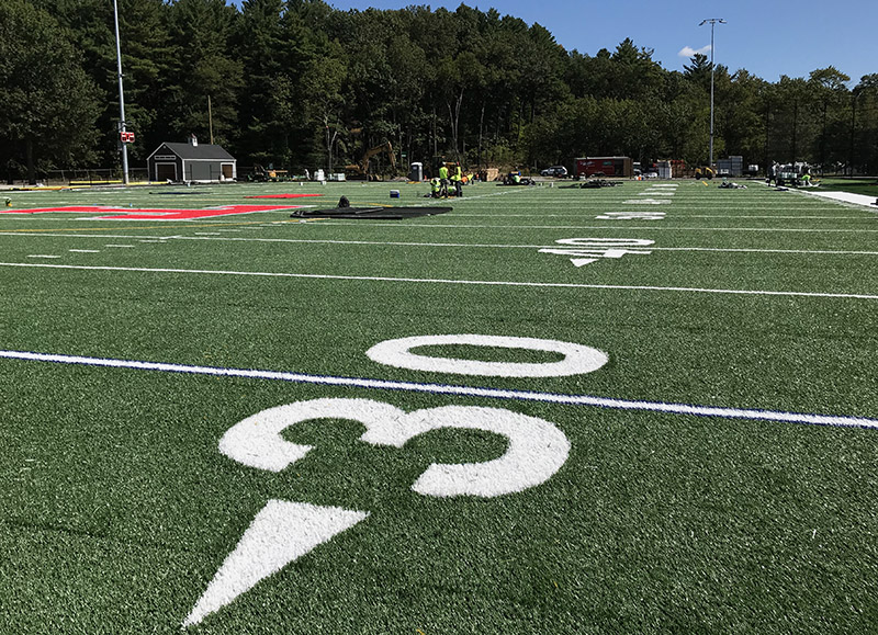 Trinity High School athletic field markings
