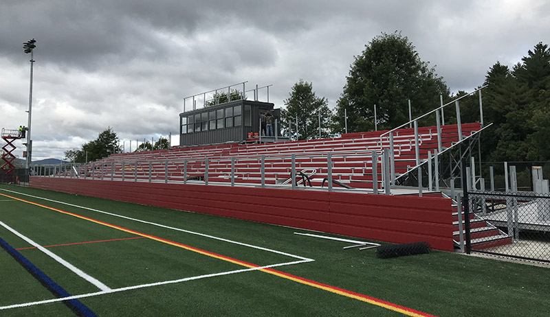 Bleachers at Trinity High School