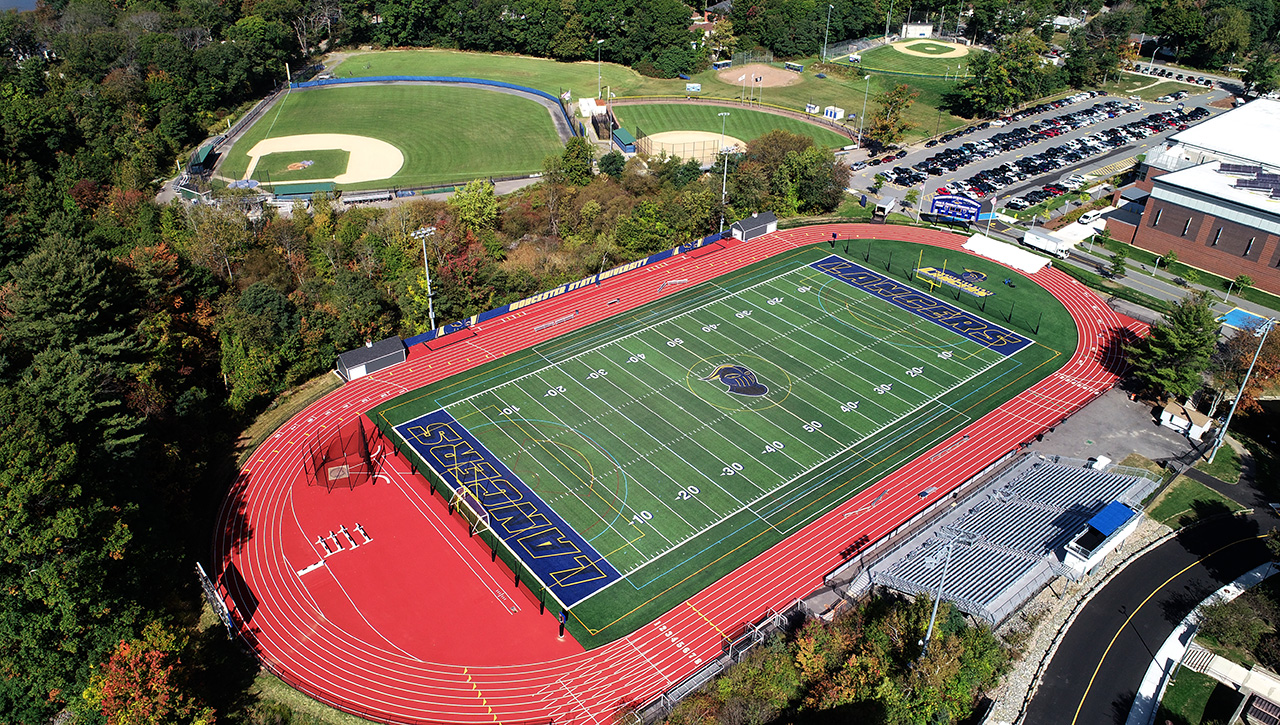 Worcester State College football field and track