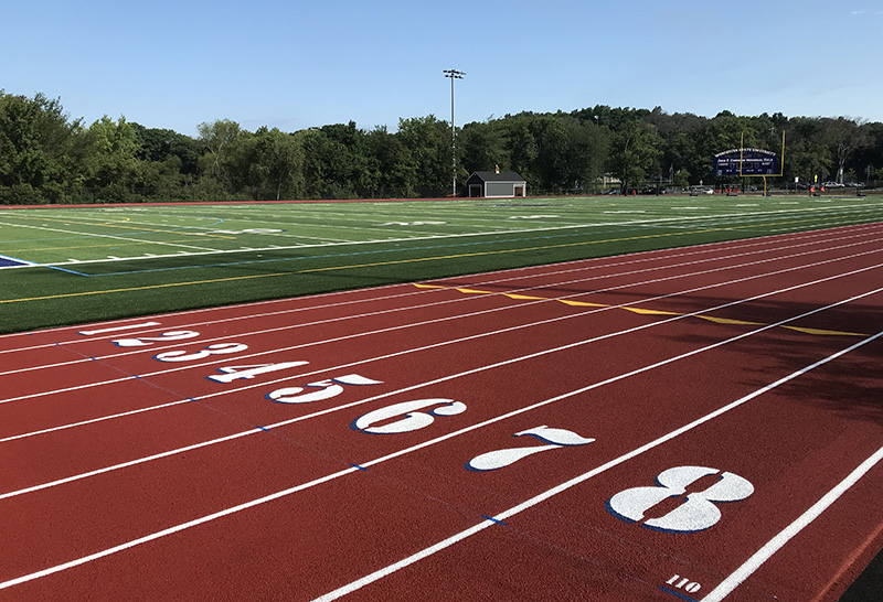 Worcester State College track lane numbers
