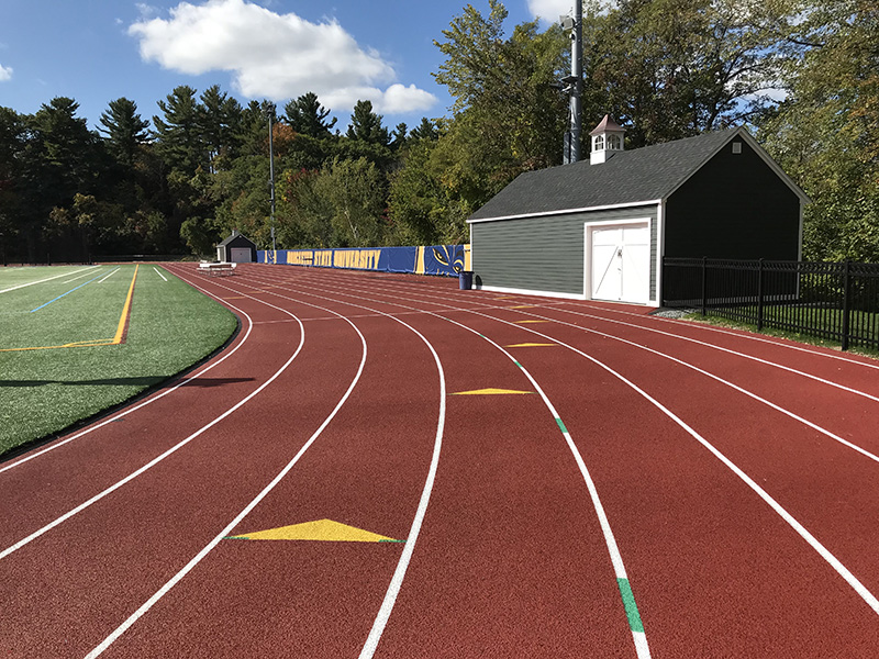 Worcester State College track lanes
