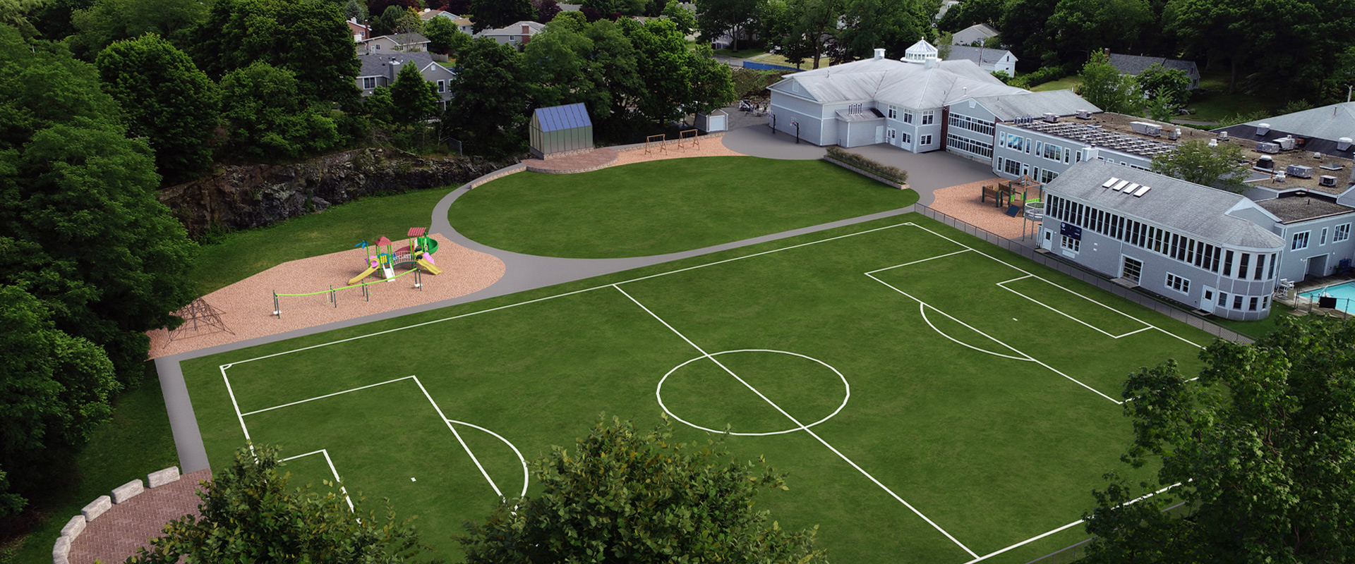 Tower School soccer filed and playground